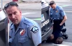 Derek Chauvin el policía que asfixió a George Floyd, un hombre afroamericano de 46 años.