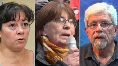 Alejandra Pérez, de Trelew ; y Rosa Contreras y  Carlos Cohen Arazi, de ESquel.