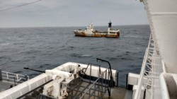 La sofisticada patrulla de la Armada ARA Bouchard participó de la captura del pesquero portugués.