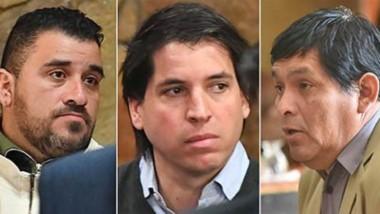 Sin cárcel. Desde la izquierda, Burgos, Seoane, Segundo y Aranda Barberá, el cuarteto narco que logró eludir la prisión efectiva.