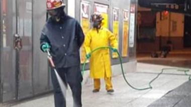 Bomberos tienen 17 puntos que salen a desinfectar de lunes a sábado.