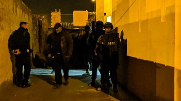 En los allanamientos realizados intervinieron grupos especiales.