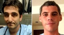 El médico Ramiro Federico Bassi y el enfermero patricio Walmsley, las dos víctimas fatales en la tragedia aérea de Esquel.