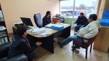 Dirigentes del SOEME se reunió ayer con el secretario de Hacienda.