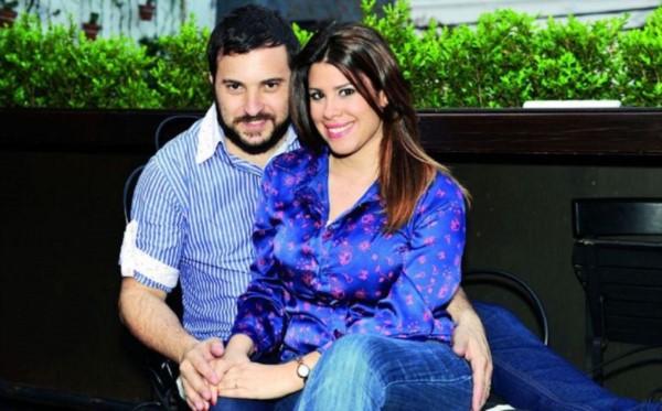 Cecilia Insinga con su esposo, el también periodista Diego Brancatelli.