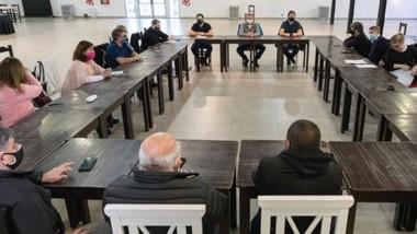 Participaron del encuentro funcionarios provinciales y autoridades de Comodoro y de Rada Tilly.