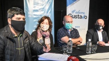El intendente Sastre, junto a su equipo de trabajo, anunció las medidas a adoptar en el marco de la circulación comunitaria del virus.