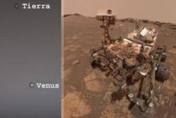 La sequedad del suelo marciano.