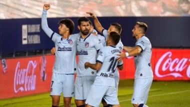 El equipo colchonero se dio un festín con el Osasuna y lo aplastó 5-0 en Pamplona.