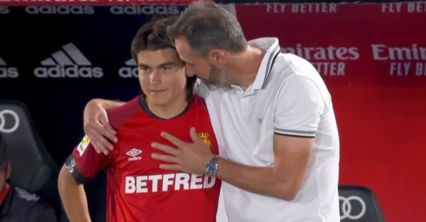 """Histórico: el argentino Luka Romero, el """"nuevo Messi"""", se transformó en el futbolista más joven en debutar en la Liga de España."""