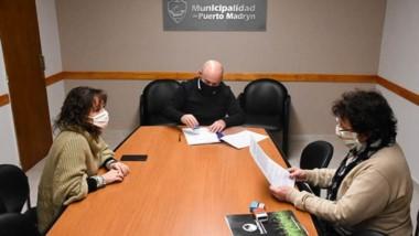Gustavo Sastre firmó el convenio de colaboración para fomentar la inclusión laboral de las personas con discapacidades.