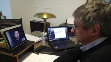 Ongarato participó del encuentro a través de una  videoconferencia.