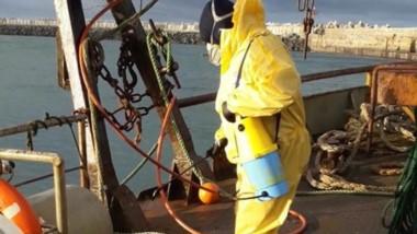 Trabajos. La prevención en el puerto de Comodoro Rivadavia.