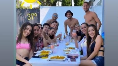 La noticia de los tres jugadores argentinos que se habían juntado para almorzar, y rompieron el confinamiento, llevó tranquilidad al club.