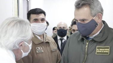 El ministro de Defensa Agustín Rossi habló  en exclusiva con JORNADA durante su visita a Comodoro.