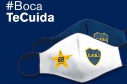 Obsequiarán barbijos con el escudo de Boca Juniors.