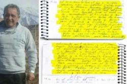 Oscar Centeno y sus cuadernos. (Archivo)