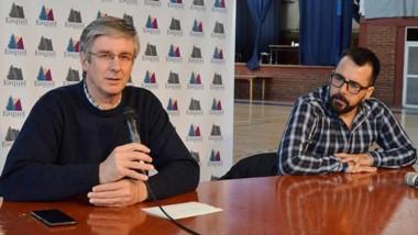 Sergio Ongarato, junto a Martín Taccetta, secretario de finanzas.
