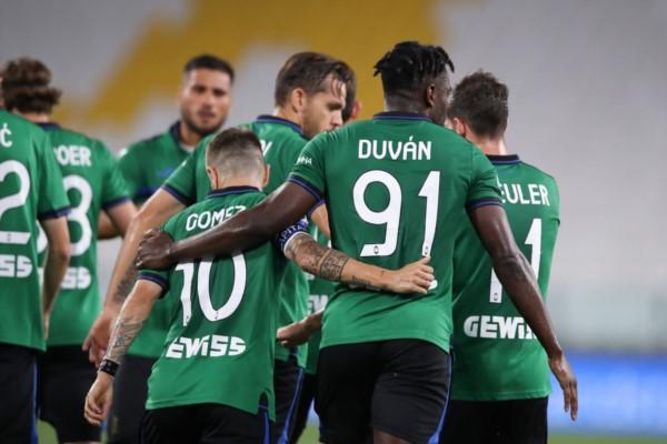 """Tras una gran habilitación del """"Papu"""" Gómez, Duván Zapara abrió el marcador. Atalanta fue más y mereció ganar, pero los penales salvaron a Juventus."""