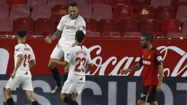 Otro gol de Ocampos en nueva victoria del Sevilla