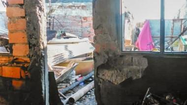 Tras el derrumbe descartaron que haya habido personas heridas.