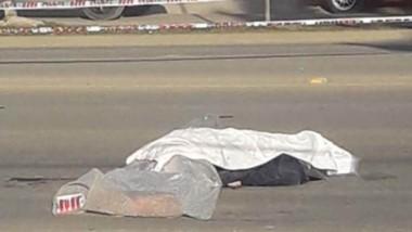 Momentos antes de de que la Policía levantase el cuerpo fallecido.
