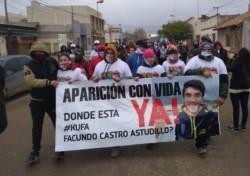 Pedro Luro marchó pidiendo por la aparición de Facundo Astudillo Castro.