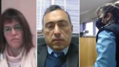 Tres escenas de la audiencia: la jueza Moreno, el juez Nieto Di Biase y una de las testigos principales.