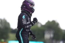 Hamilton logró su séptima pole en Hungría e igualó a Michael Schumacher en ese país.