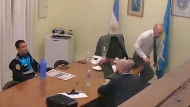 Entrevista. La reunión del fiscal Nápoli y el ministro Massoni incluyó al jefe de Policía, Miguel Gómez.