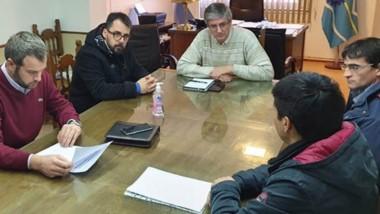 Sergio Ongarato y Matías Taccetta recibieron a Tomás Ulloga, secretario del SOEME.