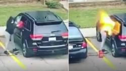 La investigación policial identificó a la sospechosa como Kelly S. Hayes, de 34 años y reveló que el dueño del vehículo incendiado es un hombre que fue pareja de la mujer.