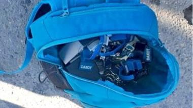 Tras la detención del joven se halló un bolso con parte de lo robado.
