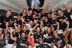 El vestuario de Juventus fue una fiesta interminable.