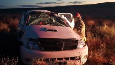 La camioneta Toyota Hilux sufrió importantes daños materiales.