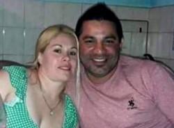 Johana Morán (32) y Gastón Heredia (42) .