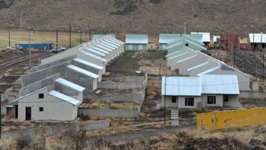 Vista del loteo de Valle Chico, donde se construirán las 100 viviendas.