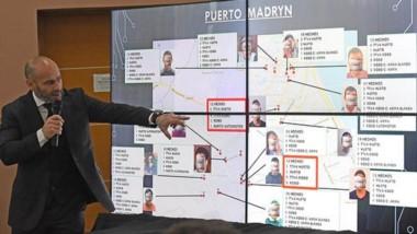 Algunas de las filminas donde el ministro de Seguridad expuso sobre la reincidencia de los delincuentes.
