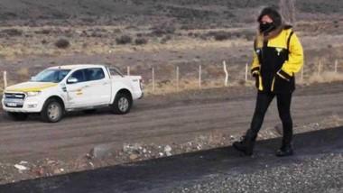 Gelvez recorrió las obras en el marco de una amplia agenda en la zona Cordillerana.