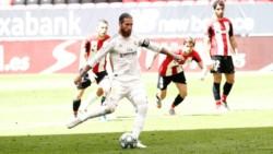 El Real Madrid gana otra vez por la mínima con un penal cobrado por Sergio Ramos ante el Bilbao.