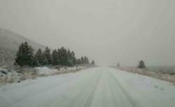 Salida de Trevelin con rutas cubierta de nieve. (Silvina Balboa)