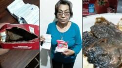 Ines Quinteros, una jubilada de la localidad bonaerense de Escobar, compró una caja de puré de tomates y cuando la abrió para consumirla, encontró algo desagradable.