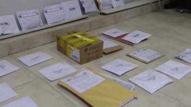 Los elementos secuestrados en los pabellones del Instituto Penitenciario provincial en Fiscalía de Rawson.