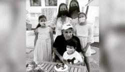 La foto familiar de Guillermo Vilas, que celebra en Montecarlo su cumpleaños número 68.