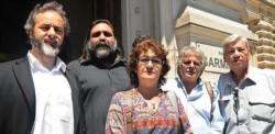 Alesso, junto a López, Baradel y otros dirigentes del sector docente.