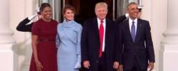 Las dos parejas, cuando el republicano estaba asumiendo el cargo. Ahora muestran los dientes, pero con otro significado...