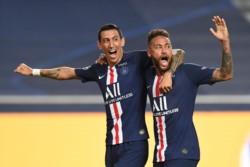 Di María junto a Neymar, dos de las figuras del París.