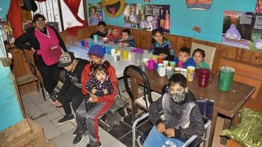 """El """"Merendero Solidario"""" del barrio INTA de Trelew alimenta a más de 100 familias cuatro veces a la semana."""