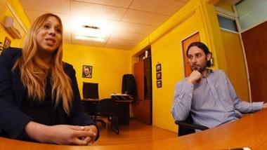 La foto que esperaban. Juan Aguilar junto a Yamila. Dijo que en el próximo concurso estará el cupo trans.