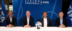 Macri, acompañado por Infantino, participó de su primer acto oficial como presidente de la Fundación FIFA.